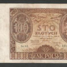 POLONIA 100 ZLOTI ZLOTYCH 1932 [7] P-74a, F - bancnota europa