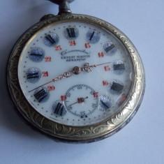 Ceas de buzunar Ernest Magnin Besancon - functional -827 - Ceas de buzunar vechi