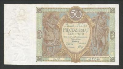 POLONIA   50  ZLOTI   ZLOTYCH  1929  [6]   P-71b foto