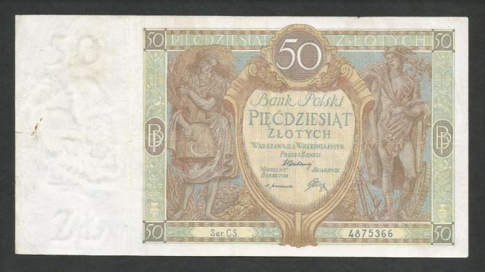 POLONIA   50  ZLOTI   ZLOTYCH  1929  [6]   P-71b