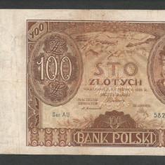 POLONIA 100 ZLOTI ZLOTYCH 1932 [5] P-74a, VF - bancnota europa