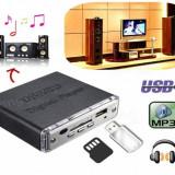 Mini Amplificator Car Motociclete Stereo 12V USB SD MP3 Player telecomanda - Amplificator audio