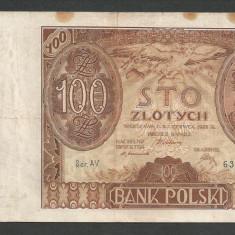 POLONIA 100 ZLOTI ZLOTYCH 1932 [17] P-74a - bancnota europa