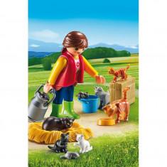 Femeie cu familie de pisici Playmobil