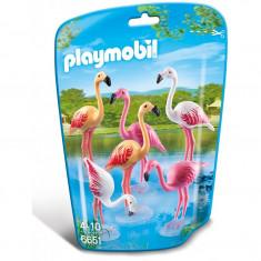 Familie de flamingo Playmobil - Set de constructie