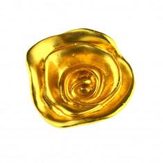 Brosa placata aur, gold plated 18 k, semnata atelier bijuterii parizian, vintage - Brosa placate cu aur