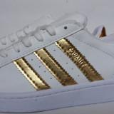 Adidasi Adidas Superstar Dama Gold - Adidasi dama, Culoare: Auriu, Marime: 38, 39, 40, Piele sintetica