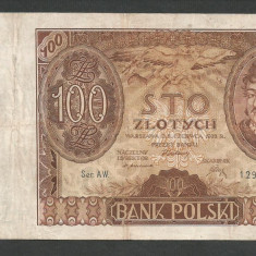 POLONIA 100 ZLOTI ZLOTYCH 1932 [10] P-74a - bancnota europa
