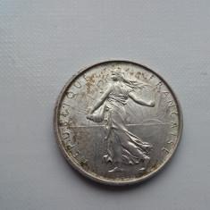 5 francs 1963 Franta moneda argint numismatica bani vechi monede colectie, Europa
