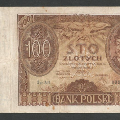 POLONIA 100 ZLOTI ZLOTYCH 1932 [12] P-74a - bancnota europa
