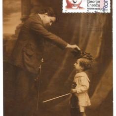 No(1)ilustrata maxima-George Enescu premiind pe Dinu Lipatti, Romania de la 1950, An: 2008, Oameni