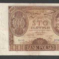 POLONIA 100 ZLOTI ZLOTYCH 1932 [4] P-74a, VF - bancnota europa