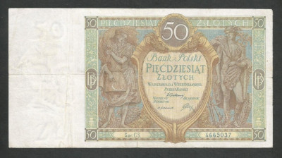 POLONIA   50 ZLOTI   ZLOTYCH    1929  [5]   P-71b foto