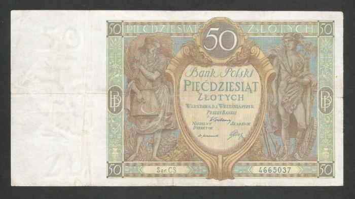 POLONIA   50 ZLOTI   ZLOTYCH    1929  [5]   P-71b