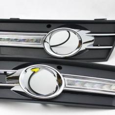 Lumini de zi dedicate VW PASSAT CC cu proiectoare ceata - DRL