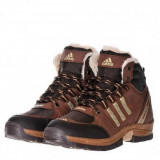 Bocanci Adidas Outdoor Imblaniti Barbati iarna 3 culori - Bocanci barbati, Marime: 40, 41, 42, 43, 44, Culoare: Camel, Indigo, Negru, Piele sintetica