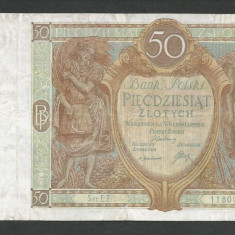 POLONIA 50 ZLOTI ZLOTYCH 1929 [8] P-71b - bancnota europa