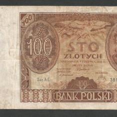 POLONIA 100 ZLOTI ZLOTYCH 1932 [14] P-74a - bancnota europa
