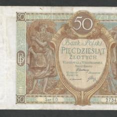 POLONIA 50 ZLOTI ZLOTYCH 1929 [7] P-71b - bancnota europa