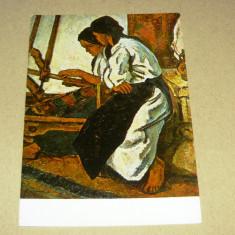 Arta - pictura - St. Dumitrescu - razboi de tesut - 2+1 gratis - RBK17858 - Carte Postala Transilvania dupa 1918, Necirculata, Fotografie