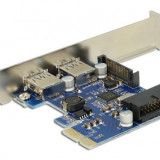 Placa PCI Express cu 2 x porturi externe USB 3.0 si port intern USB 3.0-89315