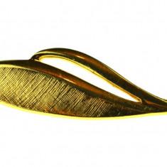 Brosa placata aur, gold plated 18 k, casa bijuterii americana Napier, vintage - Brosa placate cu aur
