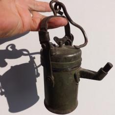 Lampa pe carbit pentru minerit. - Metal/Fonta, Sfesnice