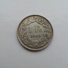 1 franc 1946 B moneda argint Elvetia numismatica monede colectie bani vechi, Europa