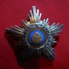 Decoratie Steaua RPR cl.IV, argint si email, h= 6 cm