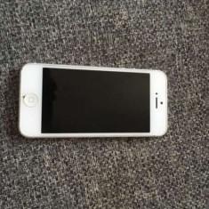 iPhone 5 Apple 16gb white neverloked folosit stare buna, incarcator, cablu !PRET:600lei, Alb, Neblocat