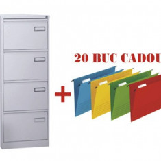 CLASIFICATOR METALIC CU 4 SERTARE, X273+CADOU!!! (20 DOSAR SUSPENDABIL ELBA Verticflex)