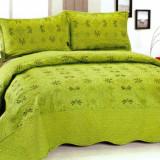 Cuvertura de pat verde, cu 2 fete de perna - Cuvertura pat