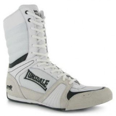 Ghete Barbati, Lonsadale, Cyclone Boxing Boots, Alb-Negru-Negru-42 Lonsdale