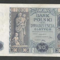 POLONIA 20 ZLOTI ZLOTYCH 1936 [5] P-77, VF - bancnota europa