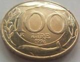 Moneda 100 Lire - ITALIA, anul 1996 *cod 1353 --- XF
