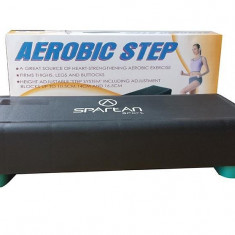 Stepper Fitness pentru uz casnic, Ajustabil, Spartan, 65 x 28 x 11/14/17 cm