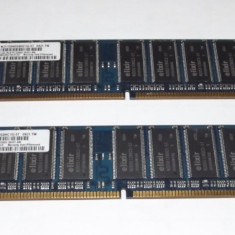 Kit 2 Gb Ram DDR1 (2 x 1 Gb) Elixir / 400 Mhz / Dual chanel/ PC-3200U / Testat - Memorie RAM Elixir, Dual channel