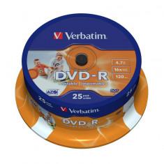 Verbatim DVD-R 16X 4, 7GB SPINDLE 25 WIDE PRINTAB - Bucatarie standard