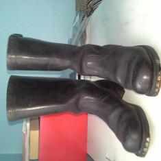 Vand cizme de piele barbatesti - Cizme barbati, Marime: 44, Culoare: Negru