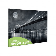 Tablou canvas fosforescent Brooklin Bridge, 60x40 cm - Lumanare parfumata