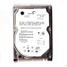 Hard laptop 2.5 IDE PATA ATA hdd 40 GB Giga 100% Life Sentinel 2, 5