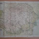 HARTA ROMANIA MARE, HARTA TURISTICA OSIM //INTERBELICA