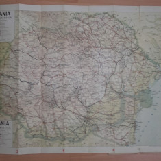 HARTA ROMANIA MARE, HARTA TURISTICA OSIM //INTERBELICA - Harta Romaniei