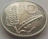 Moneda 10 Lire - ITALIA, anul 1973 Cod 3739 a.UNC, Europa, Aluminiu