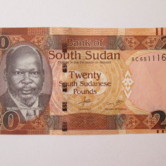 Sudanul de Sud/South Sudan 20 Pounds 2015 UNC - bancnota africa
