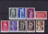 ROMANIA 1961  LP 513  SCULPTURI DIN ARTA NATIONALA  SERIE  MNH, Nestampilat