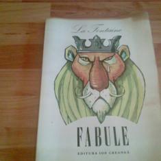 FABULE LA FONTAINE - Carte Fabule