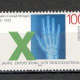 Germania.1995 150 ani nastere W.C. Rontgen-fizician PREMIUL NOBEL SG.845 - Timbre straine, Nestampilat
