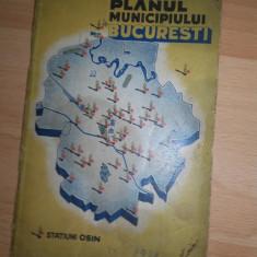 HARTA, PLANUL MUNINCIPIULUI BUCURESTI, 1938 //OSIM - Harta Romaniei