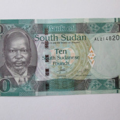 Sudanul de Sud/South Sudan 10 Pounds 2015 UNC - bancnota africa